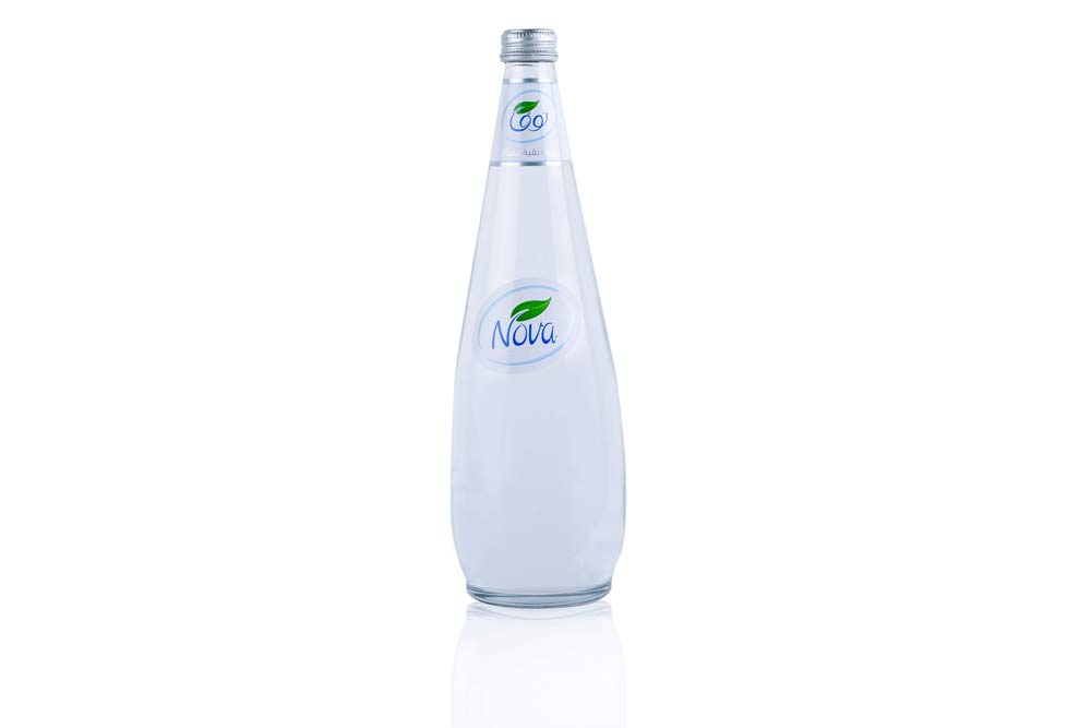 NOVA water GLASS 750ML BOTTLE